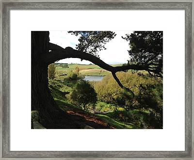 Landscape With Water Framed Print by Ron Torborg