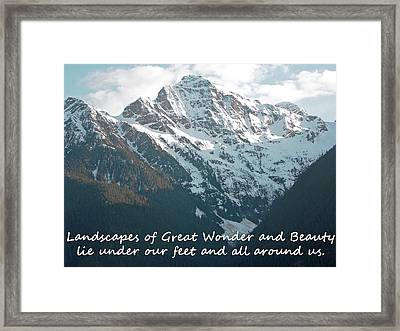 Landscapes Of Great Wonder  Framed Print