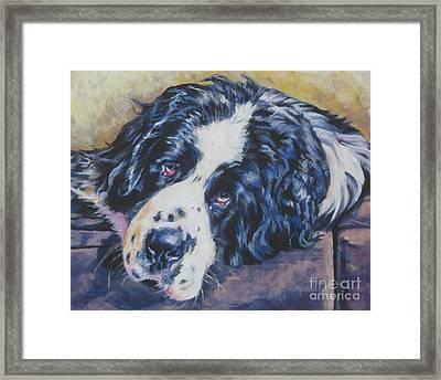 Landseer Newfoundland Dog Framed Print by Lee Ann Shepard