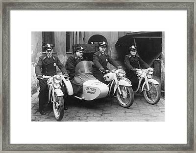 Landshut City Police Framed Print