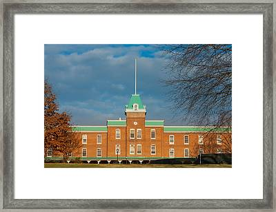 Lane Hall At Virginia Tech Framed Print by Melinda Fawver