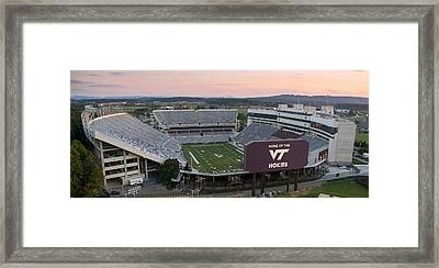 Lane Stadium At Virginia Tech Framed Print by Elevated Perspectives LLC