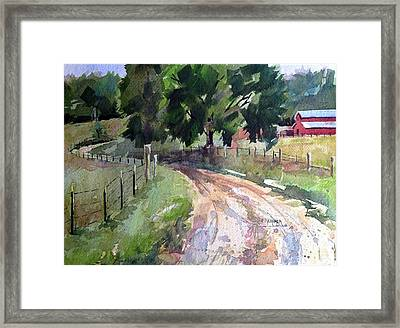 Lane To Fester Farms Framed Print by Spencer Meagher