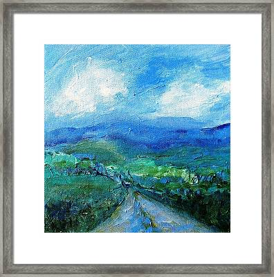 Lane To The Wicklow Hills Framed Print by Trudi Doyle