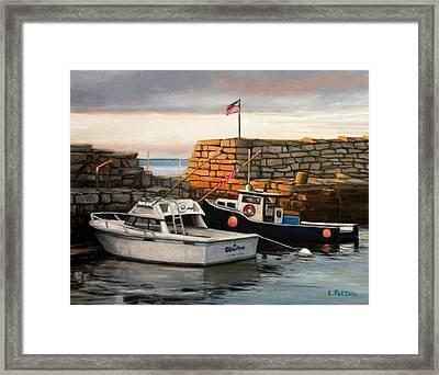 Lanes Cove Fishing Boats Framed Print