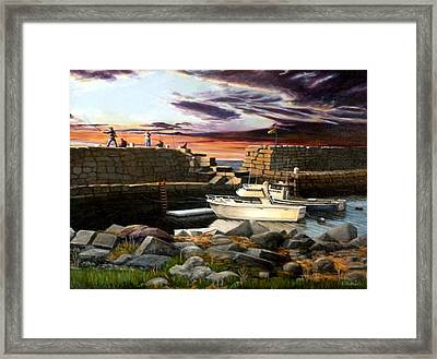 Lanes Cove Gloucester Framed Print by Eileen Patten Oliver