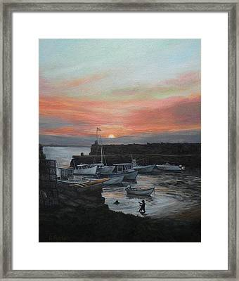 Lanes Cove Sunset Framed Print by Eileen Patten Oliver