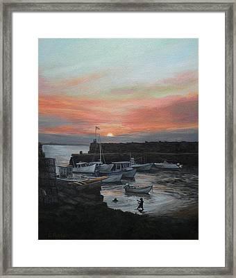 Lanes Cove Sunset Framed Print