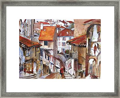 Laneways Of Nerac Framed Print