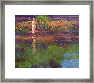 Langan Lake Reflections Framed Print by Vernon Reinike