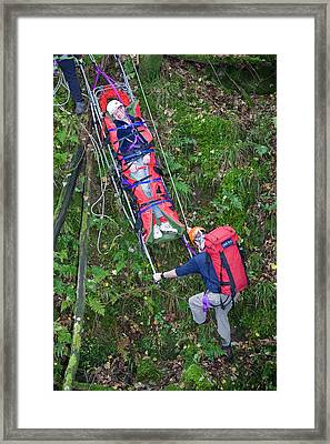 Langdale Ambleside Mountain Rescue Framed Print by Ashley Cooper