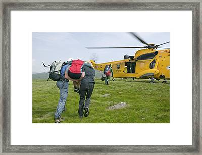 Langdale Ambleside Mountain Rescue Team Framed Print by Ashley Cooper