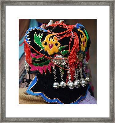Langde Miao Baby With Traditional Framed Print by Keren Su