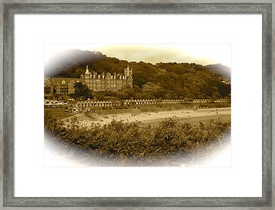 Langland Bay Gower Wales Framed Print