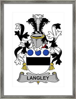 Langley Coat Of Arms Irish Framed Print