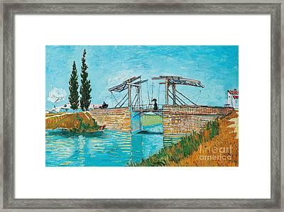Langlois Bridge At Arles Framed Print by Vincent van Gogh
