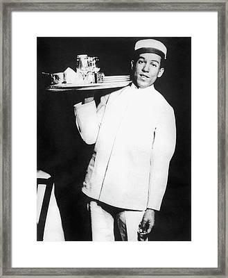 Langston Hughes As Busboy Framed Print by Underwood Archives