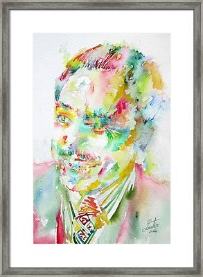 Langston Hughes Framed Print by Fabrizio Cassetta
