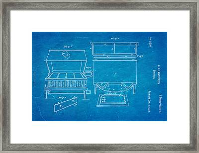 Langstroth Bee Hive Patent Art 1852 Blueprint Framed Print by Ian Monk
