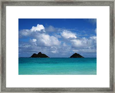Framed Print featuring the photograph Lanikai by Art Shimamura