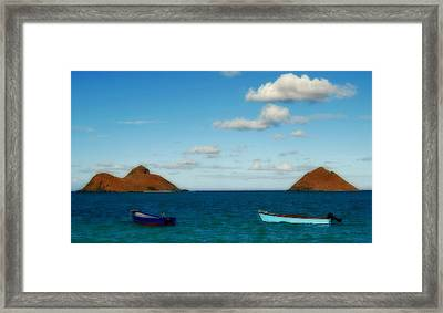 Framed Print featuring the photograph Lanikai Beach by Caroline Stella