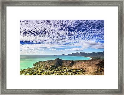 Lanikai Beach Cirrocumulus Clouds Framed Print