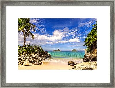 Lanikai Beach Cove Framed Print