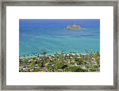 Framed Print featuring the photograph Lanikai Beach by Gina Savage