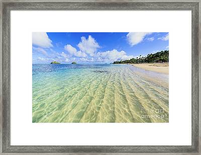 Lanikai Beach Mid Day Ripples In The Sand Framed Print