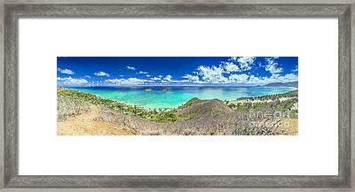 Lanikai Beach Panorama Framed Print