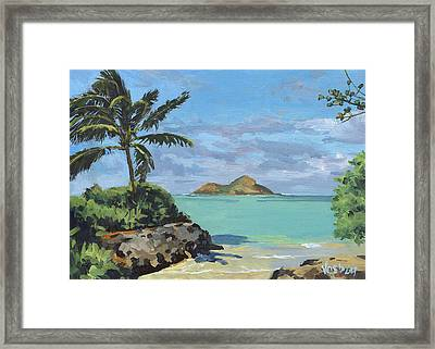 Lanikai Beach Path Framed Print by Stacy Vosberg