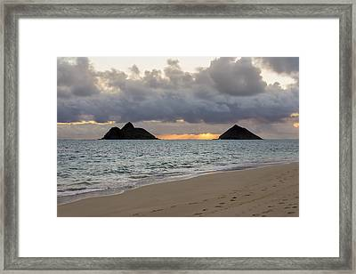 Lanikai Beach Sunrise 4 - Kailua Oahu Hawaii Framed Print by Brian Harig