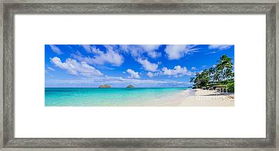 Lanikai Beach Tranquility 3 To 1 Aspect Ratio Framed Print