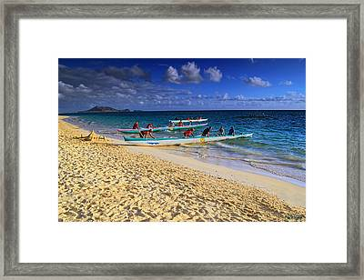 Framed Print featuring the photograph Lanikai Catamarans In The Morning by Aloha Art