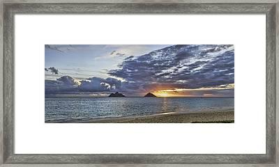 Lanikai Sunrise Framed Print