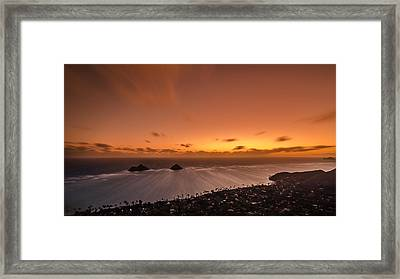 Lanikai Sunrise - Oahu Framed Print by Tin Lung Chao