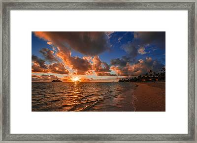 Framed Print featuring the photograph Lanikai Sunrise by RC Pics