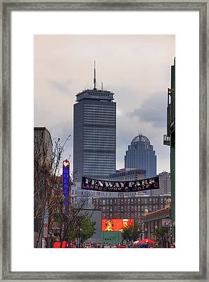 Lansdowne Street - Fenway Park Framed Print by Joann Vitali
