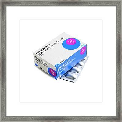 Lansoprazole Tablets Framed Print