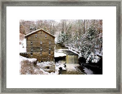 Lanterman's Mill In Winter Framed Print