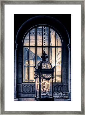 Lantern And Arched Window Framed Print by Edward Fielding