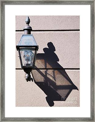 Lantern And Shadow New Orleans Framed Print by Marcus Dagan