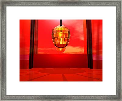 Lantern Light Framed Print by John Pangia