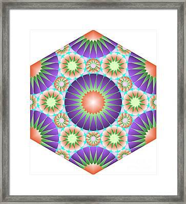 Lantern Tile Framed Print by Cam Macfarlane