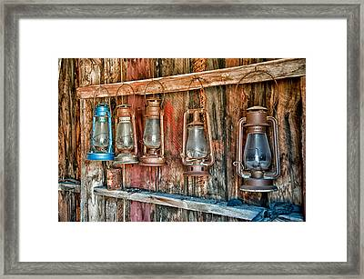 Lanterns Framed Print by Cat Connor