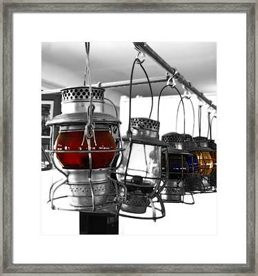 Framed Print featuring the photograph Lanterns by Raymond Earley