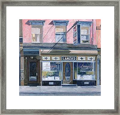 Lanza's Restaurant 11th Street East Village Framed Print by Anthony Butera