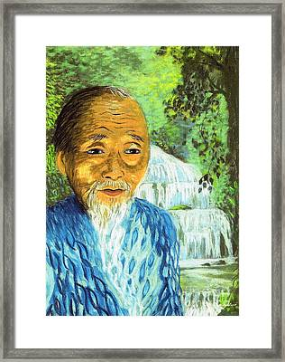 Lao Tzu Framed Print by Jane Small
