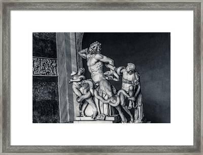 Laocoon And His Sons Framed Print by Andrea Mazzocchetti