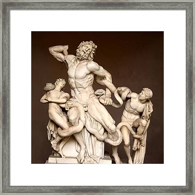 Laocoon And Sons Framed Print